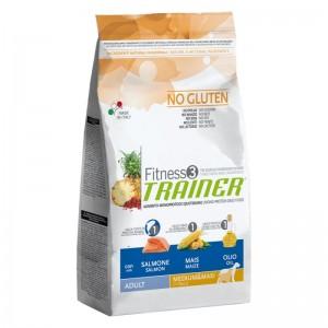 Dog Fitness Adult Medium&Maxi Salmone e Mais, sacco 12.5 kg  - no gluten Trainer TR_5351115.R