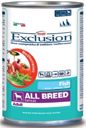 Dog  All Breed (linea mediterraneo) lattina 400 gr - exclusion