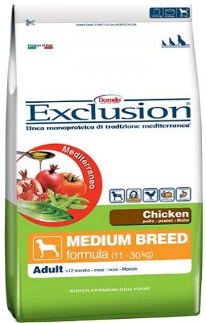 Dog Adult pollo Medium Breed (linea mediterraneo) - exclusion