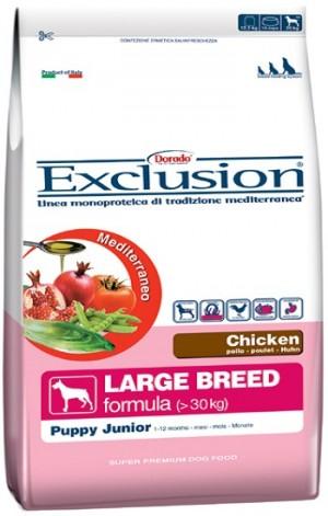 Dog  Puppy Junior pollo Large Breed (linea mediterraneo)  - exclusion