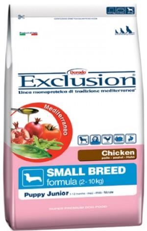 Dog  Puppy Junior pollo Small Breed (linea mediterraneo) - exclusion