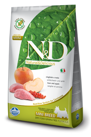 Farmina - Natural & Delicious Grain Free Canine - Boar & Apple - Adult Mini