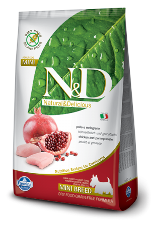 Farmina - Natural & Delicious Grain Free Canine - Chicken & Pomegranate - Adult Mini