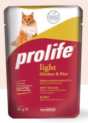 Adult Cat Light Pollo e Riso, bustina da 85 gr - Prolife PR_26360.1
