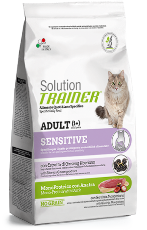 Cat Solution Sensitive Adult Anatra sacco 300 gr Trainer TR_PS6404.R
