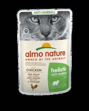 Cat Adult Holistic Anti Hairball Pollo 70 gr