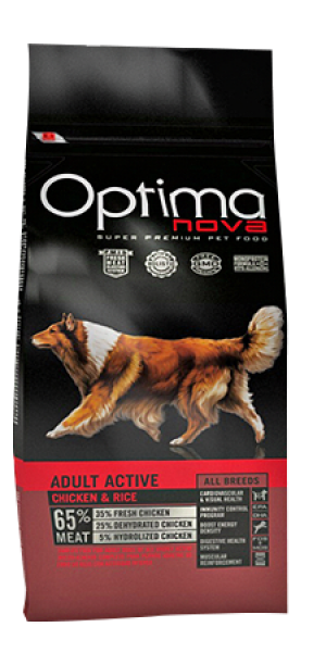 Dog ADULT ACTIVE CHICKEN & RICE 12 kg OP_D.D-73AC12-12K.R OPTIMA