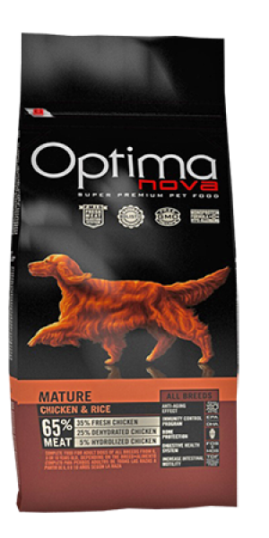 Dog ADULT MATURE CHICKEN & RICE 12 kg OP_D.D-85MA12-12K.R OPTIMA