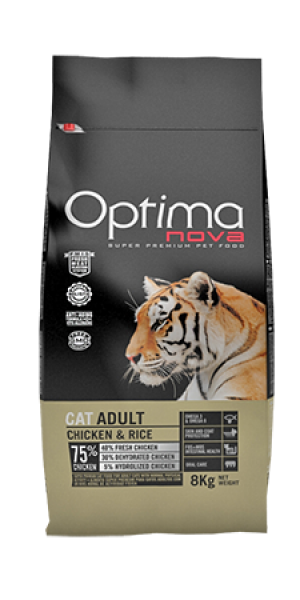 Cat Adult Chicken & Rice 8 kg OP_C.D-52AD08-8K.R OPTIMA