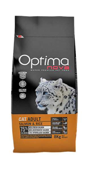 Cat Adult Salmon & Rice 400 gr OP_C.D-54SA4A-400G.R OPTIMA