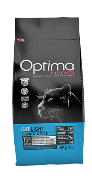 Cat Adult Light Chicken & Rice 8 kg OP_C.D-55LH08-8K.R OPTIMA