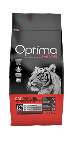 Cat Mature Chicken & Rice 400 gr .OP_C.D-58MA4A-400G.R OPTIMA
