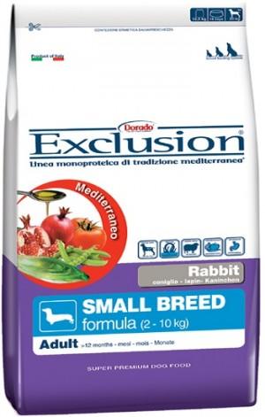 Dog Adult coniglio Small Breed (linea mediterraneo) - exclusion