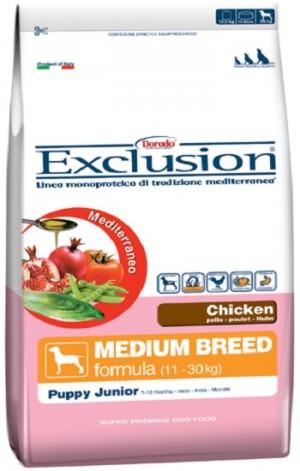 Dog  Puppy Junior pollo Medium Breed (linea mediterraneo) - exclusion
