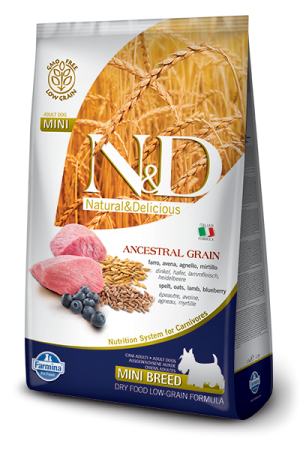 Farmina - Natural & Delicious - Low Ancestral Grain - Lamb & Blueberry Adult Mini