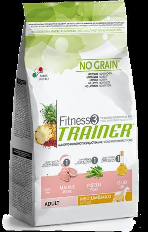 Dog Fitness Adult Medium&Maxi Maiale e piselli sacco 3 kg no grain Trainer TR_5357105.R