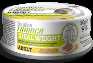 Cat Solution Adult Ideal Weight Tacchino (patè con bocconcini) lattina 80 gr - no gluten Trainer  TR_FDA04.R