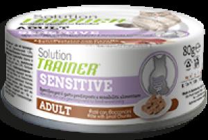 Cat Solution Sensitive Adult Cavallo (patè con bocconcini) lattina 80 gr - no gluten Trainer  TR_FDA03.R