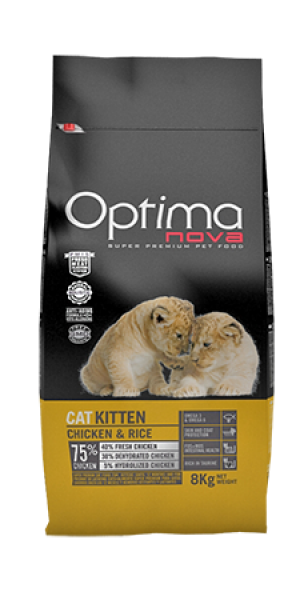Cat Kitten Chicken & Rice 8 kg OP_C.D-53KT4A-400G.R OPTIMA