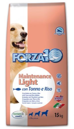DOG MAINTENANCE LIGHT TONNO sacco 15 kg - Forza 10