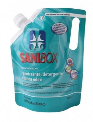 Sanibox Detergente Concentrato Muschio Bianco da 1000 ml