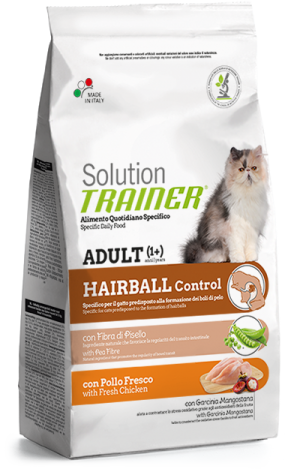 Cat Solution Hairball Control Pollo sacco 300 gr Trainer TR_PS6408.R
