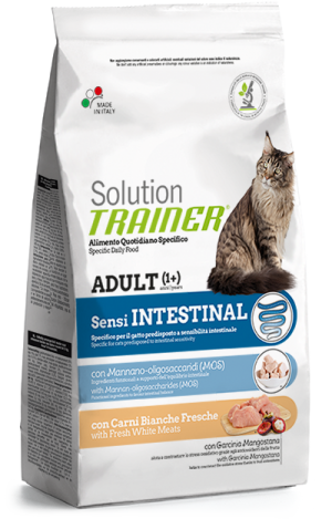 Cat Solution Sensi Intestinal Adult Carni Bianche sacco 300 gr Trainer TR_PS6401.R